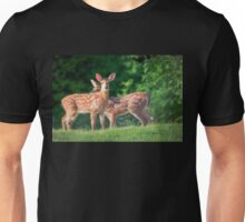 Spring Twins (White Tailed Deers) Unisex T-Shirt