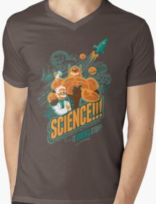 Science!!! It Knows Stuff! Mens V-Neck T-Shirt