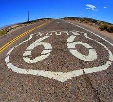 Route 66 Original Highway California by Bob Christopher