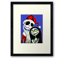 Jack and Sally Skellington ready for Christmas Framed Print