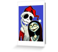 Jack and Sally Skellington ready for Christmas Greeting Card