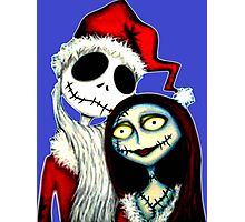 Jack and Sally Skellington ready for Christmas Photographic Print