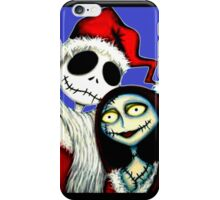 Jack and Sally Skellington ready for Christmas iPhone Case/Skin