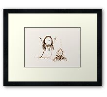 Campfire Lady Framed Print