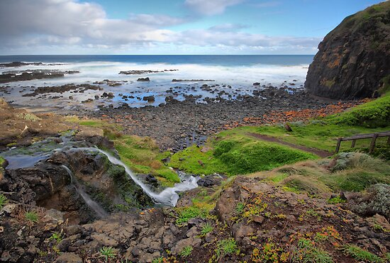 Tea Tree Creek Meets the Sea by Jim Worrall
