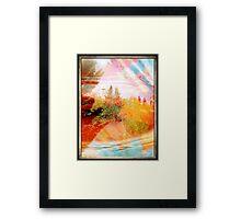 Embrace of colors Framed Print