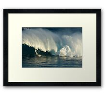 Surfing Jaws Maui Hawaii Framed Print