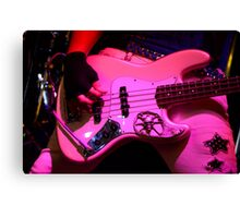 Guitar Pretty In Pink Canvas Print