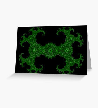 GreenJulia1Spirograph Greeting Card
