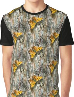 Eastern Comma Butterfly Graphic T-Shirt
