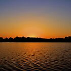 Sunrise Over the Lake at Pecan Grove Park by aprilann