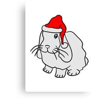Weihnachtshase cap christmas sweet cute Canvas Print