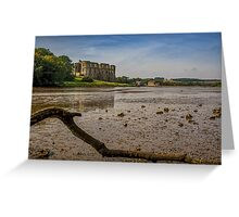 Castell Carew Estuary Greeting Card