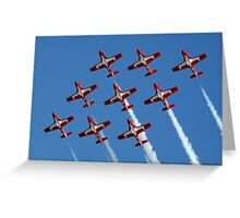 Canadian Snowbirds In Flight Formation Greeting Card