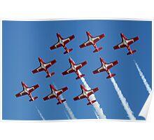 Canadian Snowbirds In Flight Formation Poster