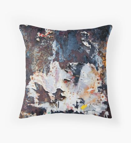 Abstract photo of urban wall Throw Pillow