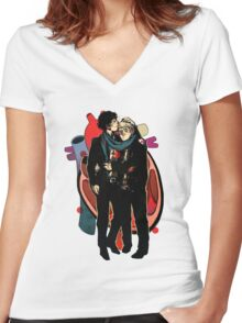 Sherlock: HEART and mind Women's Fitted V-Neck T-Shirt