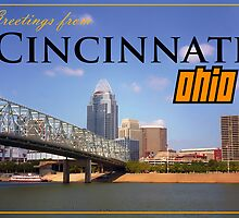 Greetings From Cincinnati Ohio by Sam Warner