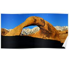Mobius Arch Morning Light Poster
