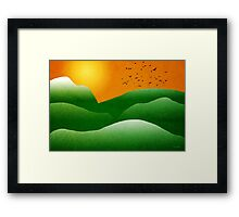 Mountain Sunrise Landscape Framed Print
