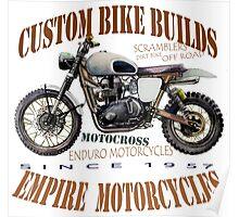 ENDURO MOTORBIKE T SHIRT Poster