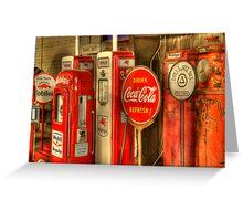 Vintage Gasoline Pumps Greeting Card