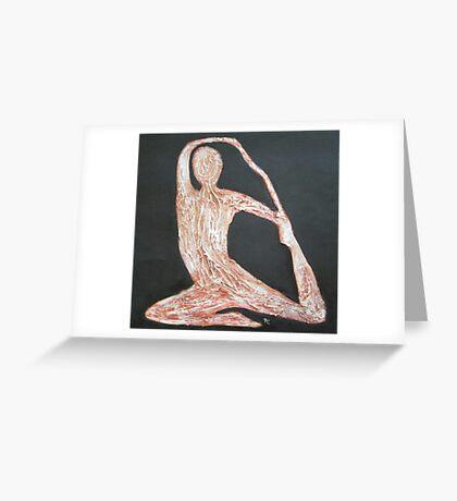 Yoga Position Greeting Card