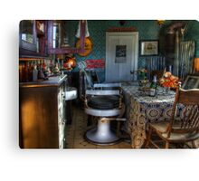 Barber Shop Back In Time Canvas Print