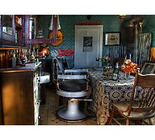 Barber Shop Back In Time Photographic Print