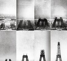 Construction of the Eiffel Tower by cascadeur