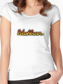 Colorful Washburn Women's Fitted Scoop T-Shirt