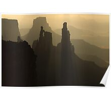 Fog In Canyonlands Poster