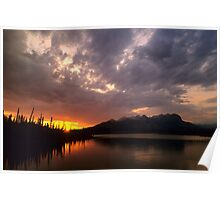 Sunset At Jasper Lake Poster