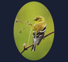 American Goldfinch in the Rain Kids Tee