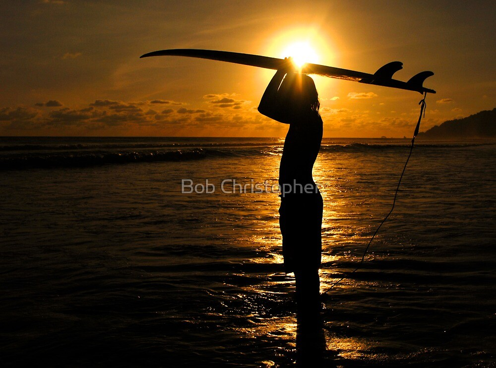 Surfer Costa Rica by Bob Christopher