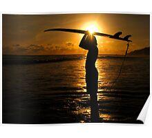 Surfer Costa Rica Poster