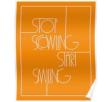 Stop Scowling • Fanta Poster
