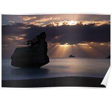 Cathedral Cove Rock Stack - Coromandel Peninsula  NZ Poster