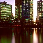 Melbourne City Lights Reflected in the Yarra River - iPhone/iPod Case by Anthony Woolley