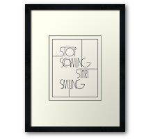 Stop Scowling •Ivory Framed Print