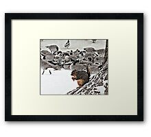 Just Hunkering Down With My Home Boys Framed Print