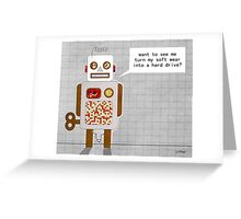 naughty robot Greeting Card