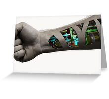 Cybernetic Arm Greeting Card