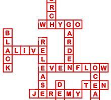 Cross Word Ten T Shirt (Red Font) by zandosfactry