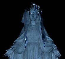Our Lady Of The Valley in Blues by Jane Neill-Hancock