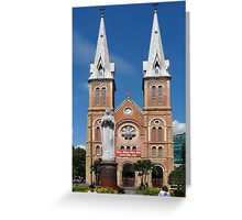 Notre Dame Cathedral, Ho Chi Minh, Vietnam Greeting Card