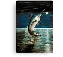 Moonlit Marlin Canvas Print