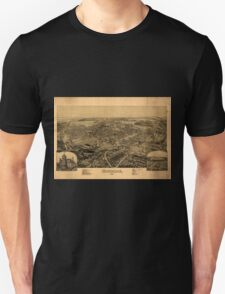 Panoramic Maps Dunmore Pennsylvania Unisex T-Shirt