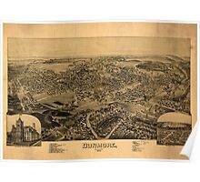 Panoramic Maps Dunmore Pennsylvania Poster