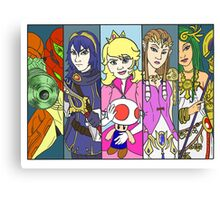 Super Smash Girls  Canvas Print